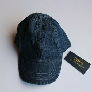 Polo Ralph Lauren Denim Large Pony Baseball Hat